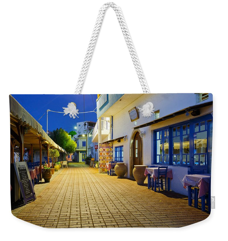 Crete Weekender Tote Bag featuring the photograph crete 'XVIII by Milan Gonda