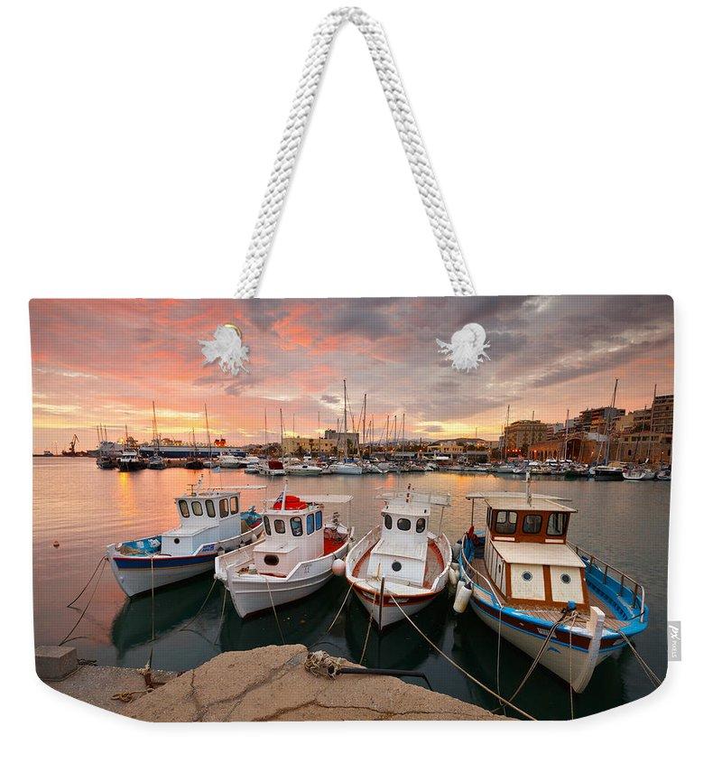 Heraklion Weekender Tote Bag featuring the photograph crete 'XXVII by Milan Gonda