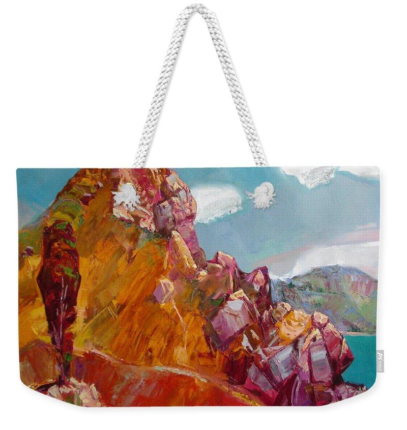 Ignatenko Weekender Tote Bag featuring the painting Crimea by Sergey Ignatenko