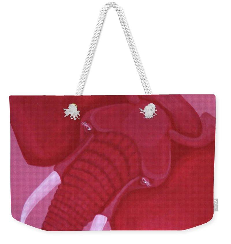 Crimson Elephant Weekender Tote Bag