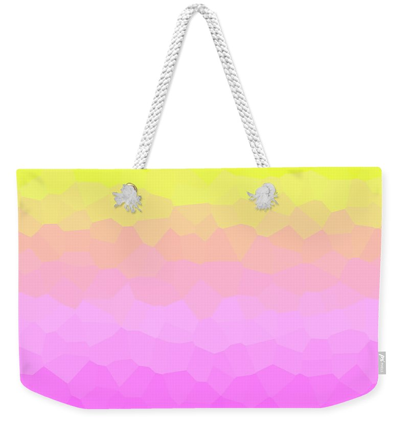Cristal Weekender Tote Bag featuring the digital art Criztalizado by Alejandro Gonzalez