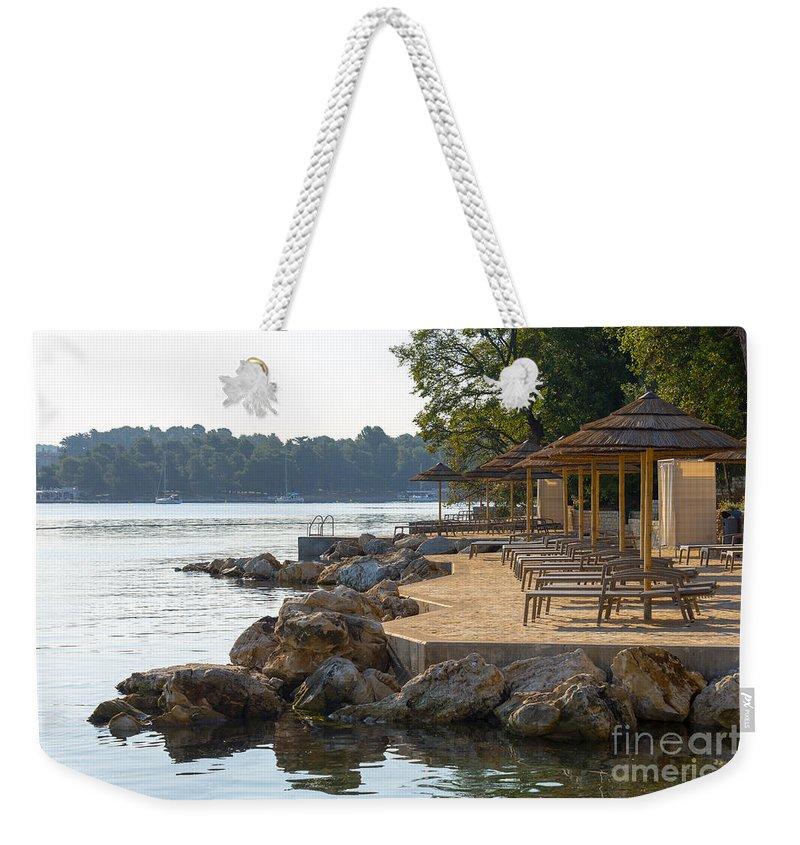 Bay Weekender Tote Bag featuring the photograph Croatia Seaside by Svetlana Sewell