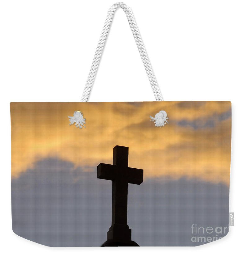 Cross Weekender Tote Bag featuring the photograph Cross And Sky by David Lee Thompson