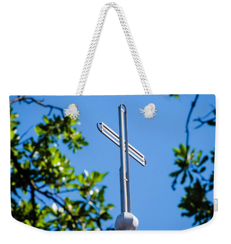 Cross Weekender Tote Bag featuring the photograph Cross by Chris Coffee