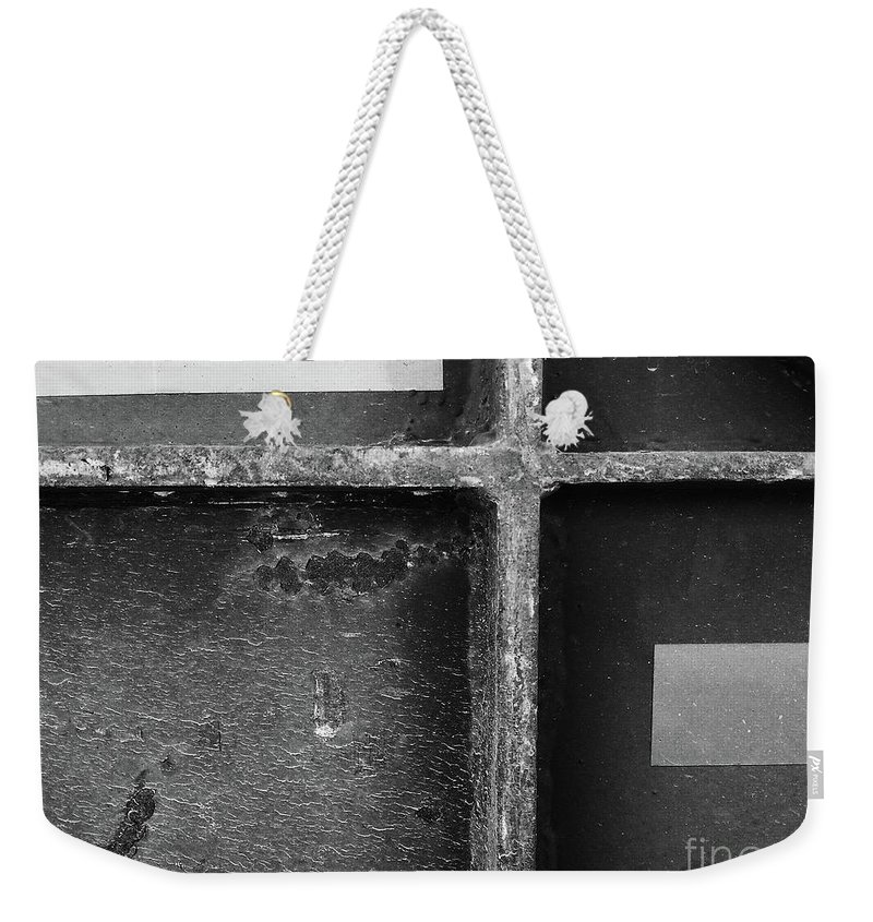 Abstract Weekender Tote Bag featuring the photograph Cross by Fei A