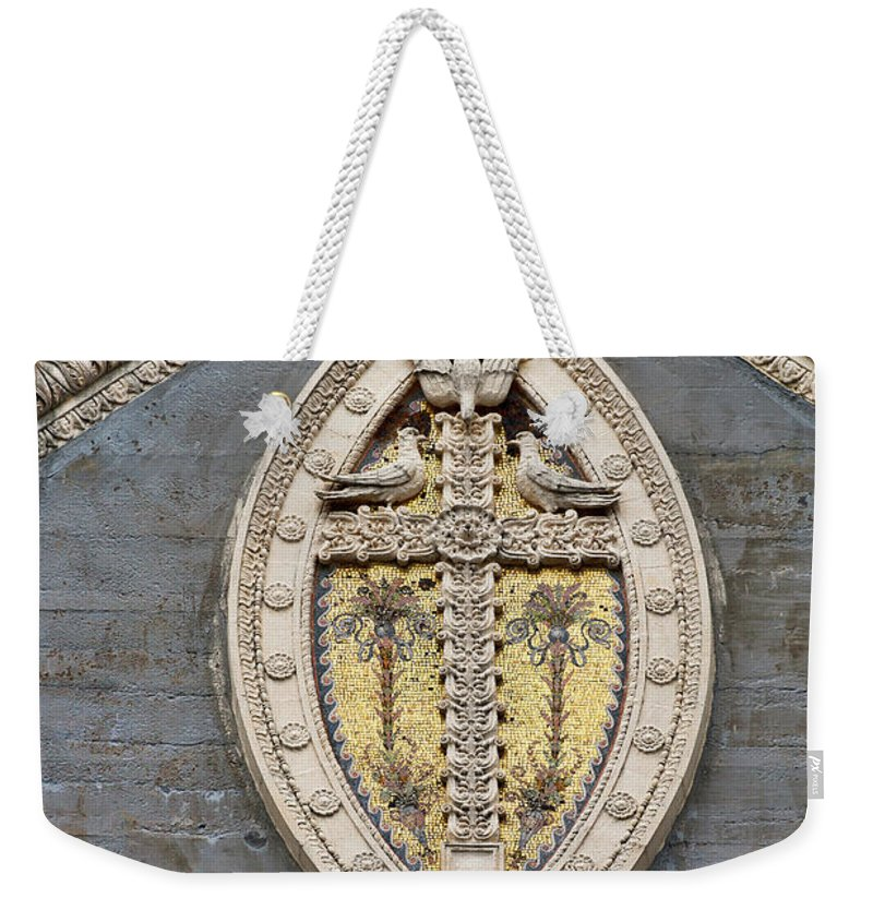 Architecture Weekender Tote Bag featuring the photograph Cross On High by Christopher Holmes