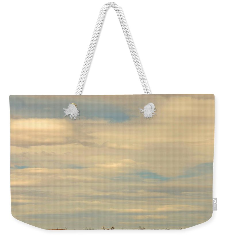 Cross Road Weekender Tote Bag featuring the photograph Cross Road In New Mexico by Susanne Van Hulst