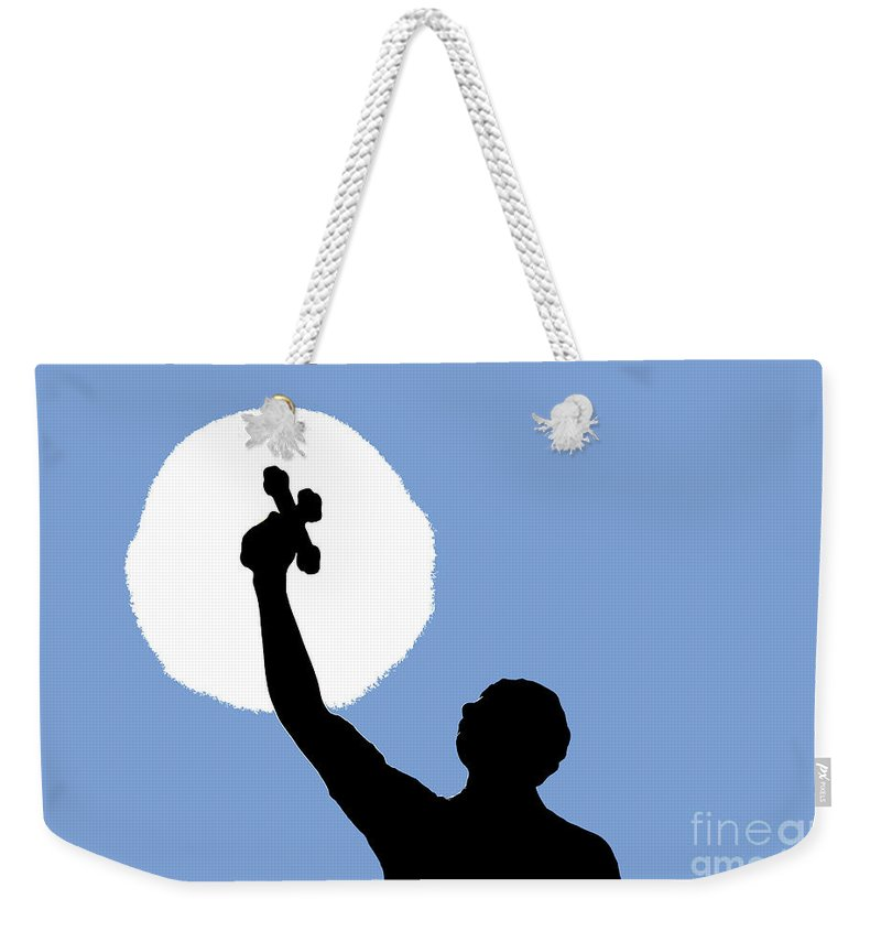 Cross Weekender Tote Bag featuring the photograph Cross Sky by David Lee Thompson