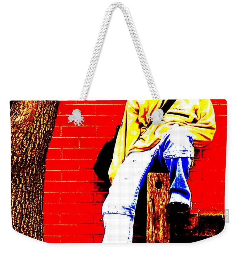 Canvas Weekender Tote Bag featuring the photograph Cross Town Run by Albert Stewart