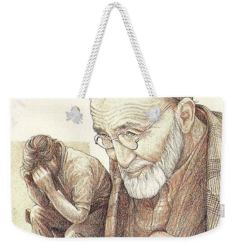 Christian Weekender Tote Bag featuring the painting Crossroads by Jennifer Boeke