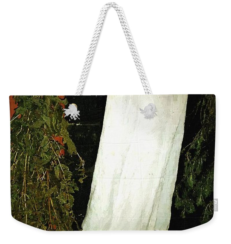 Americana Weekender Tote Bag featuring the painting Crowded Hearth by RC DeWinter