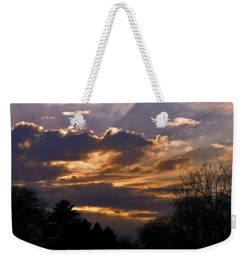 Cloud Weekender Tote Bag featuring the photograph Crown Cloud by Albert Stewart
