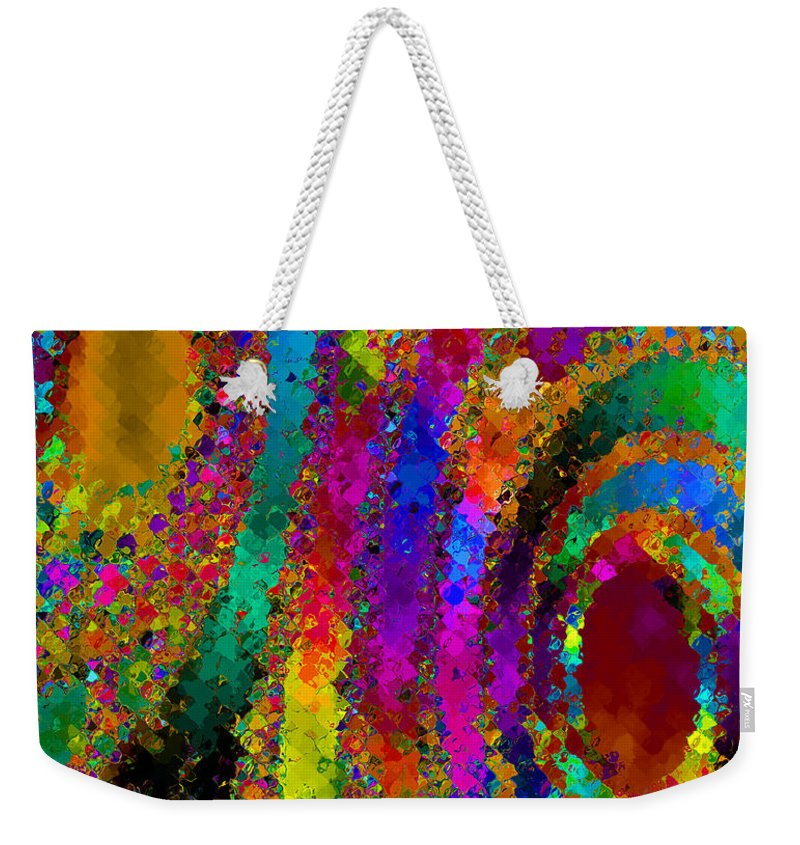 Abstract Weekender Tote Bag featuring the digital art Crown Jewels by Ruth Palmer