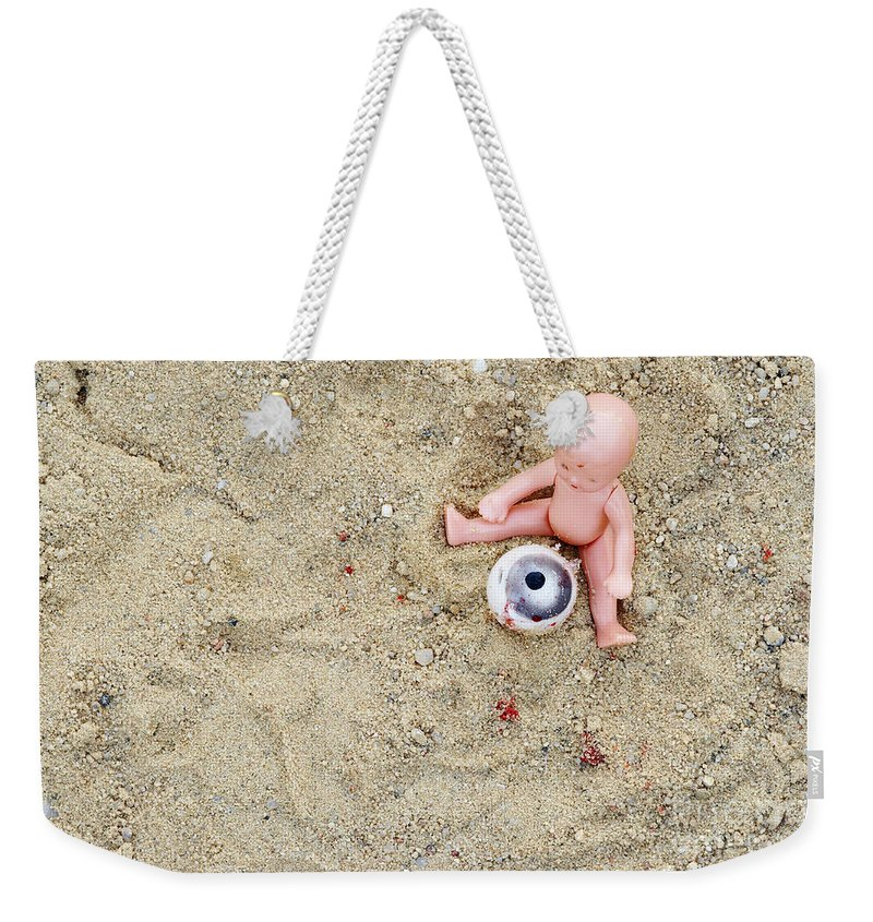 Abstract Weekender Tote Bag featuring the photograph Cruel Games by Michal Boubin