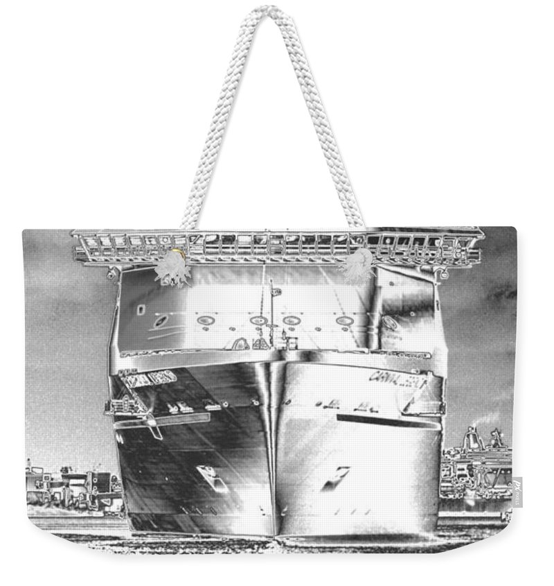 Cruising Weekender Tote Bag featuring the photograph Cruise Ships In Chrome by Carol Groenen