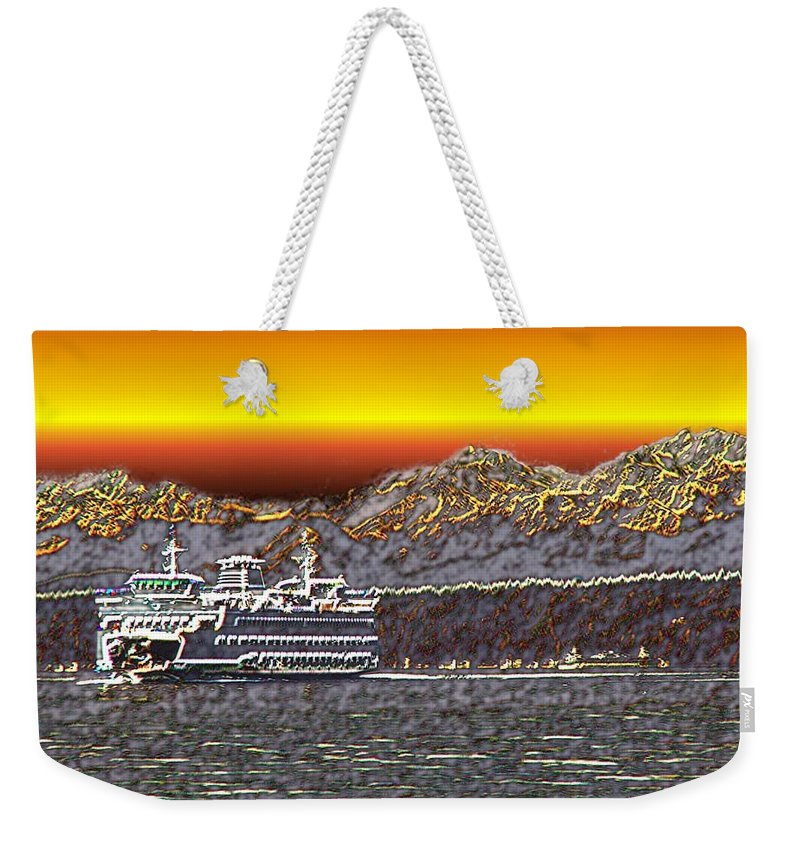 Seattle Weekender Tote Bag featuring the photograph Cruisin The Sound by Tim Allen