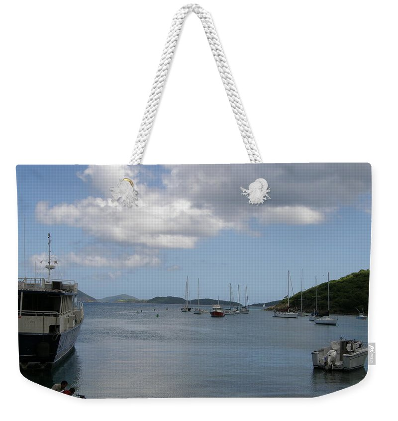Ocean Weekender Tote Bag featuring the photograph Cruz Bay by Kimberly Mohlenhoff