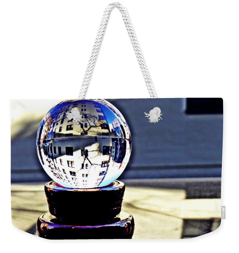 Crystal Weekender Tote Bag featuring the photograph Crystal Ball Project 62 by Sarah Loft