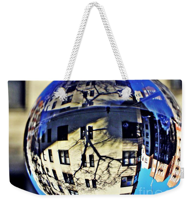 Crystal Weekender Tote Bag featuring the photograph Crystal Ball Project 63 by Sarah Loft
