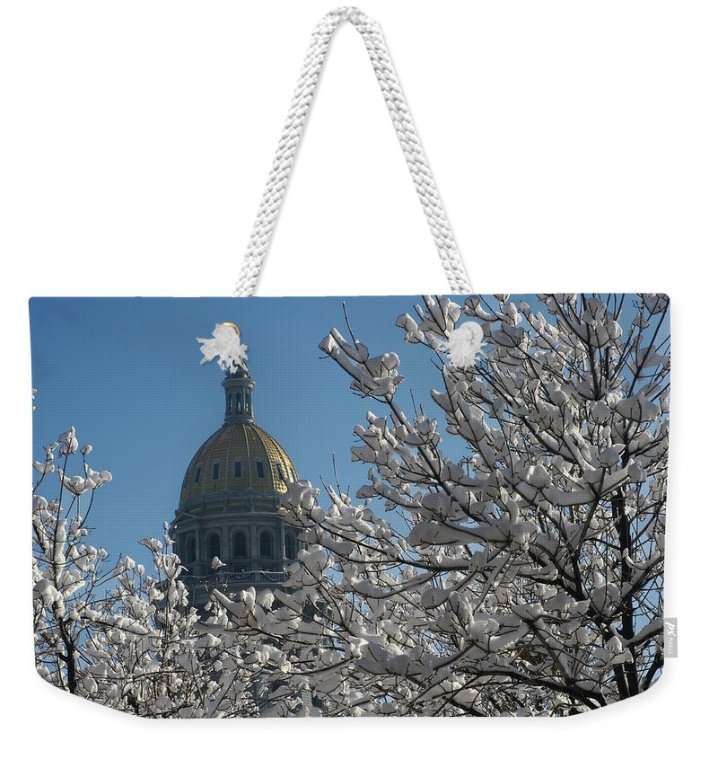 Denver Weekender Tote Bag featuring the photograph Crystal Capitol by Jeffery Ball
