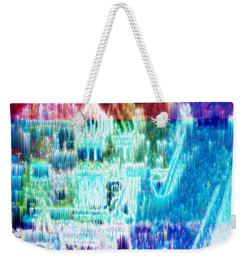 Northern Lights Weekender Tote Bag featuring the digital art Crystal City by Seth Weaver