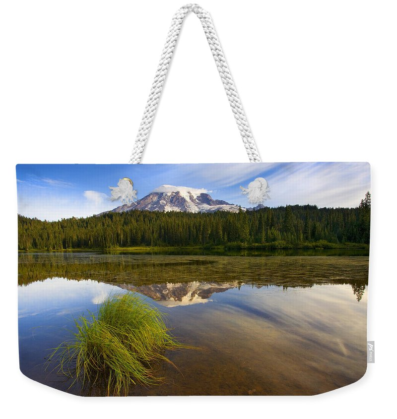 Lake Weekender Tote Bag featuring the photograph Crystal Clear by Mike Dawson