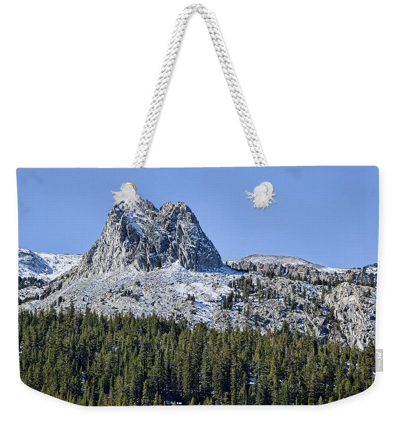 Mountain Weekender Tote Bag featuring the photograph Crystal Crag by Kelley King