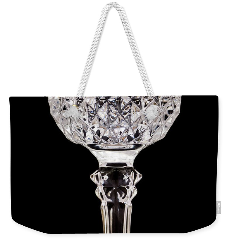 Crystal Weekender Tote Bag featuring the photograph Crystal Glass by Wim Lanclus