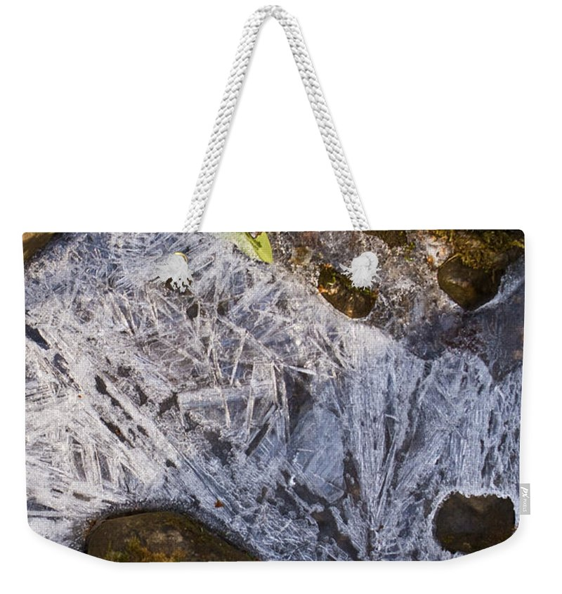 Frozen Weekender Tote Bag featuring the photograph Crystal Labyrinth  by Douglas Barnett