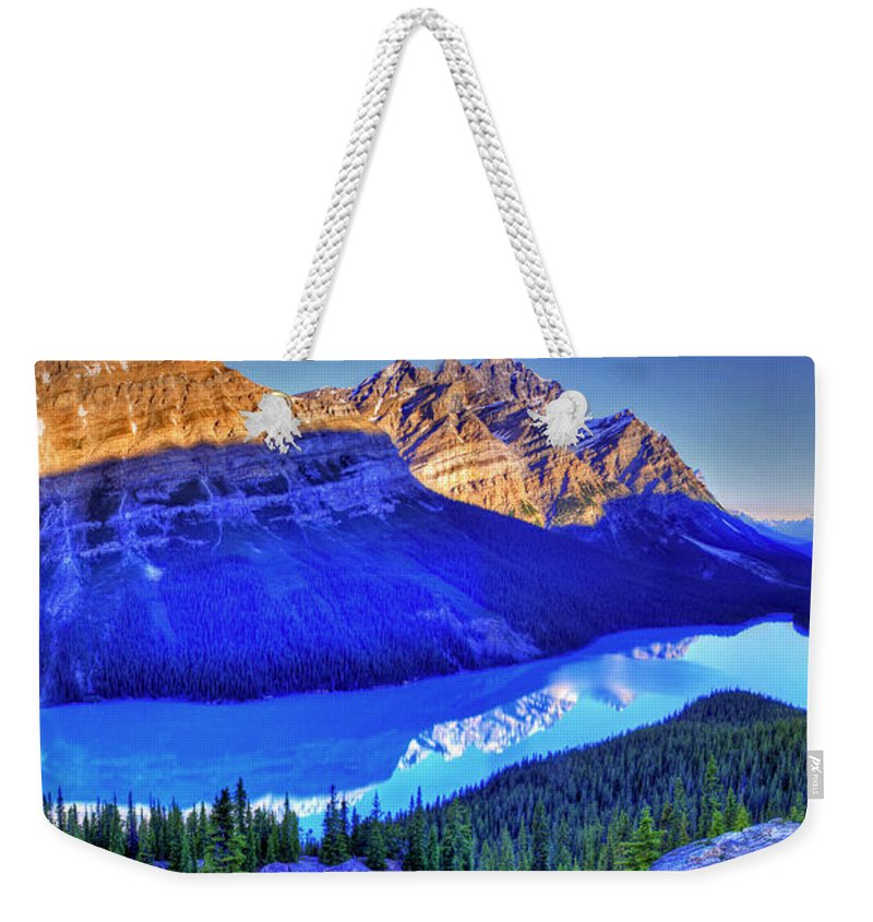 Lake Weekender Tote Bag featuring the photograph Crystal Lake by Scott Mahon