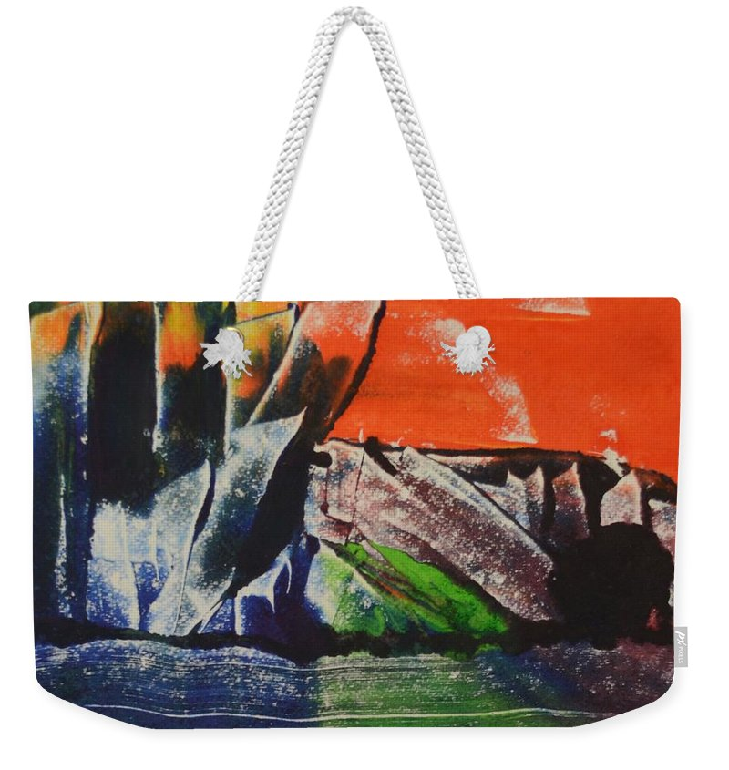Abstract Art Weekender Tote Bag featuring the digital art Crystal Quarry by Ed Schamel