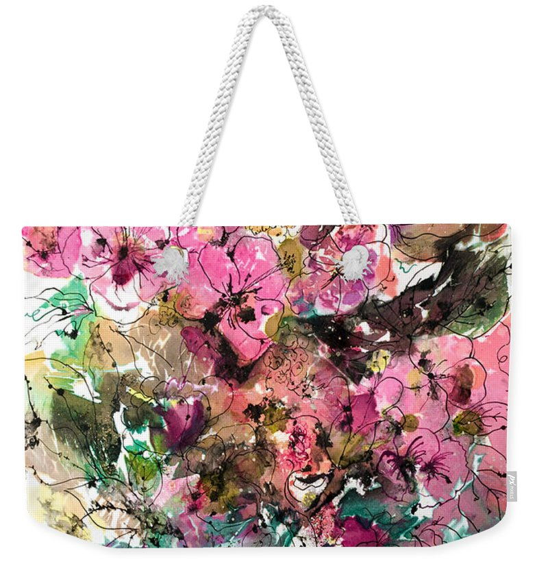 Abstract Impressionism Weekender Tote Bag featuring the painting Crystal Reflections by Barbara Colangelo