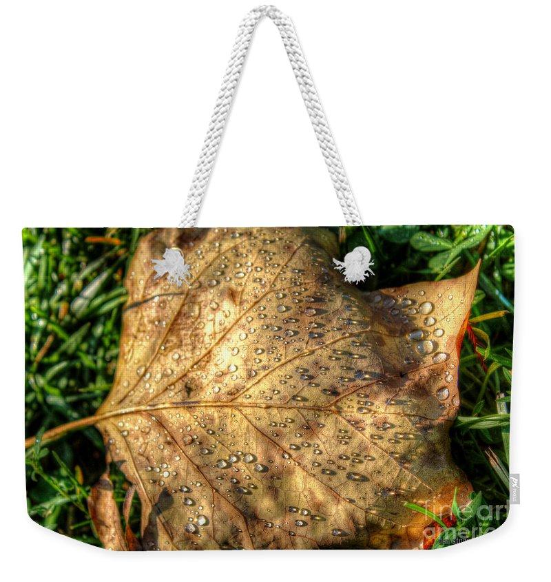 Nature Weekender Tote Bag featuring the digital art Crystaline Pure by Dan Stone