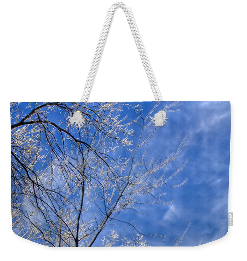Crystalline Weekender Tote Bag featuring the photograph Crystalline Sky by Douglas Barnett