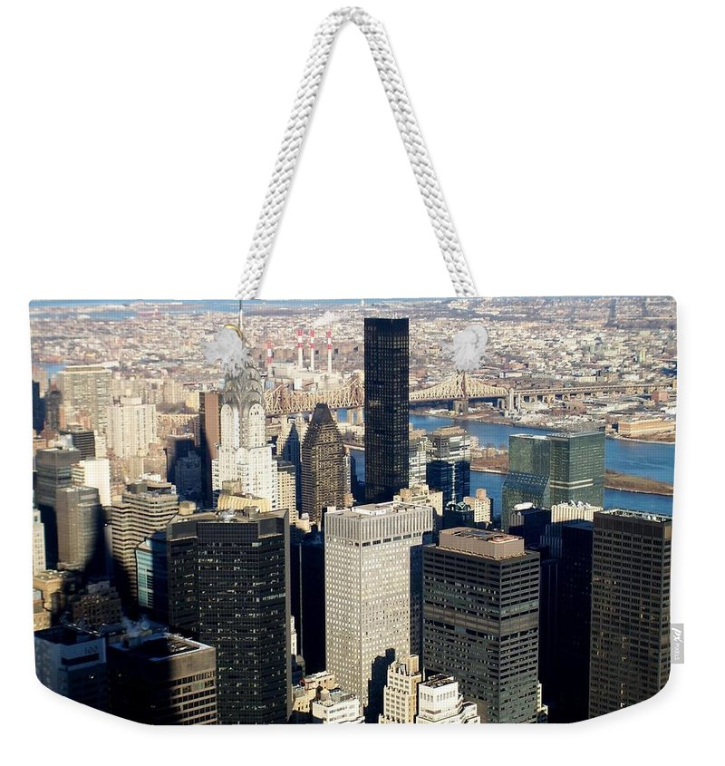 Crystler Building Weekender Tote Bag featuring the photograph Crystler Building 2 by Anita Burgermeister