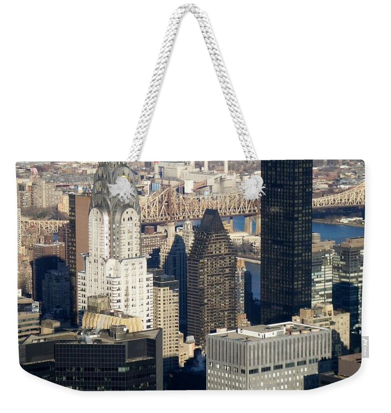 Crystler Building Weekender Tote Bag featuring the photograph Crystler Building by Anita Burgermeister