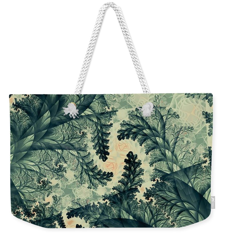 Plant Weekender Tote Bag featuring the digital art Cubano Cubismo by Casey Kotas