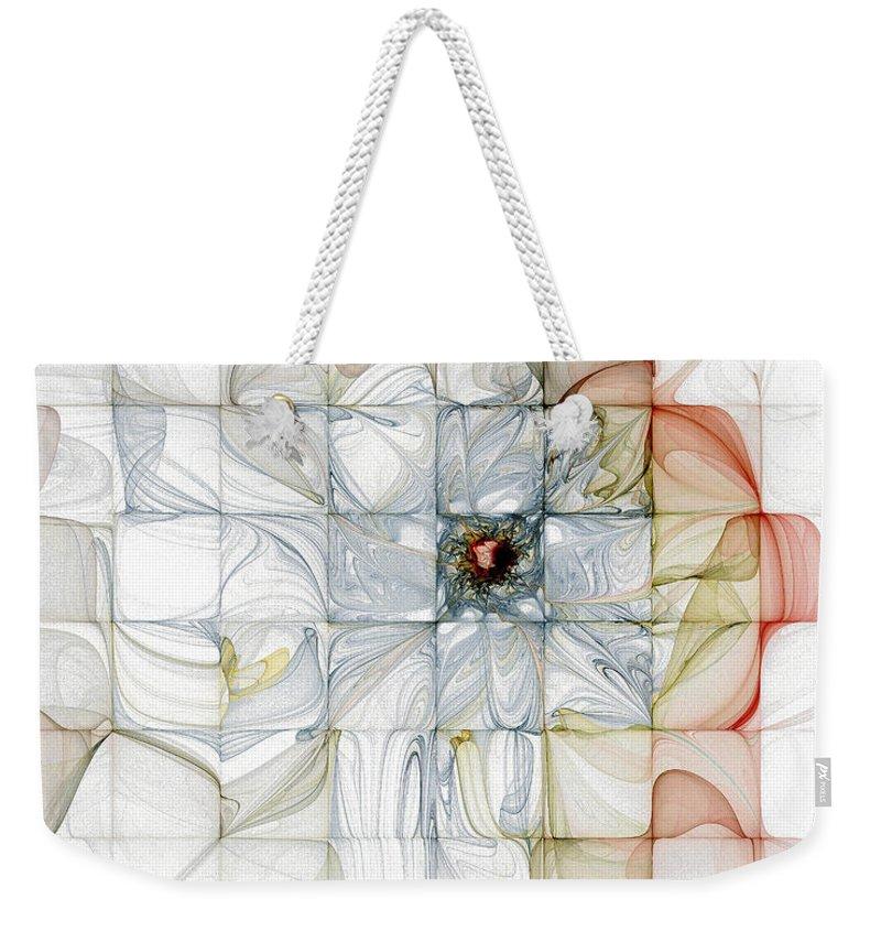 Digital Art Weekender Tote Bag featuring the digital art Cubed Pastels by Amanda Moore