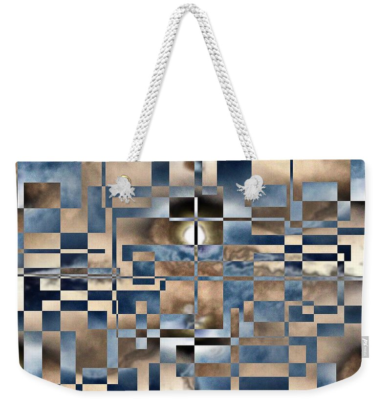 Abstract Weekender Tote Bag featuring the photograph Cubed by Tim Allen