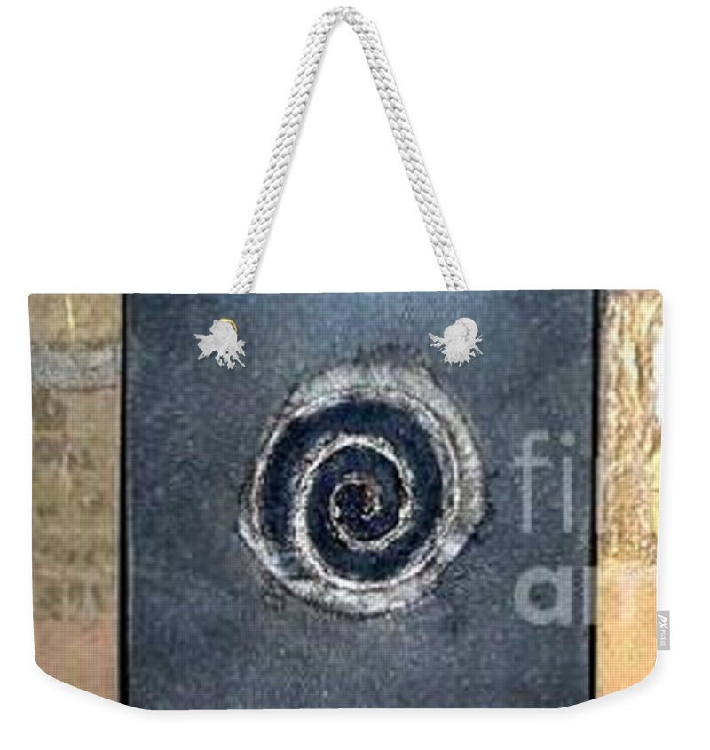 Metallics Weekender Tote Bag featuring the painting Cubism by Marlene Burns