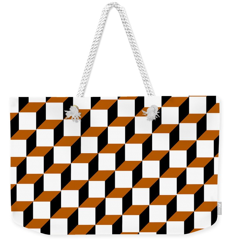 Clay Weekender Tote Bag featuring the digital art Cubism Squared by Clayton Bruster