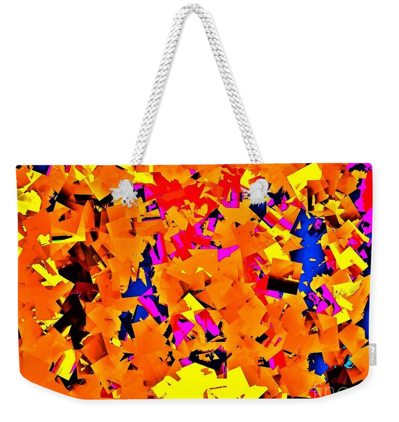 Cublism Weekender Tote Bag featuring the photograph Cubist Tesseract by Michael Potts