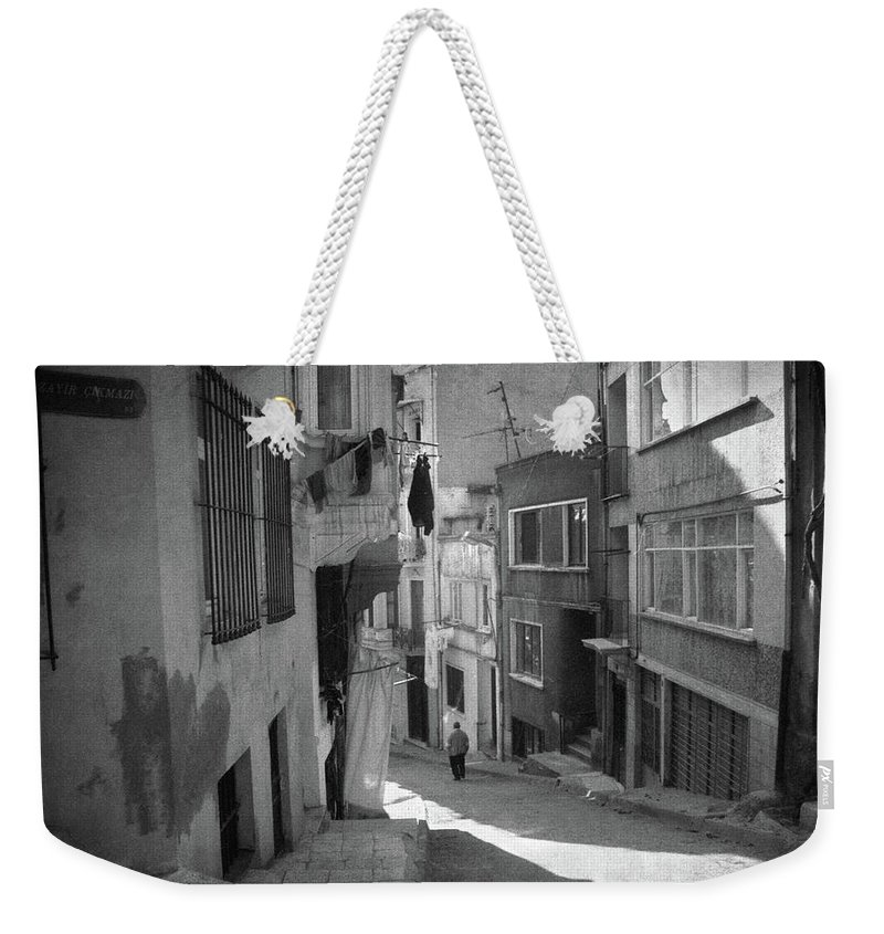 Fine Art Photography Weekender Tote Bag featuring the photograph Cul-de-sac by Zapista