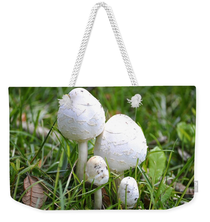 Toadstools Weekender Tote Bag featuring the photograph Cumberland Toadstools by Debra White