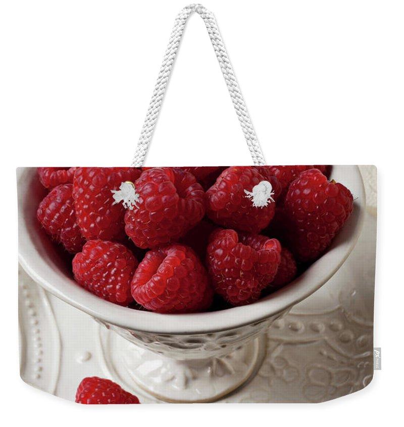 Raspberry Weekender Tote Bags