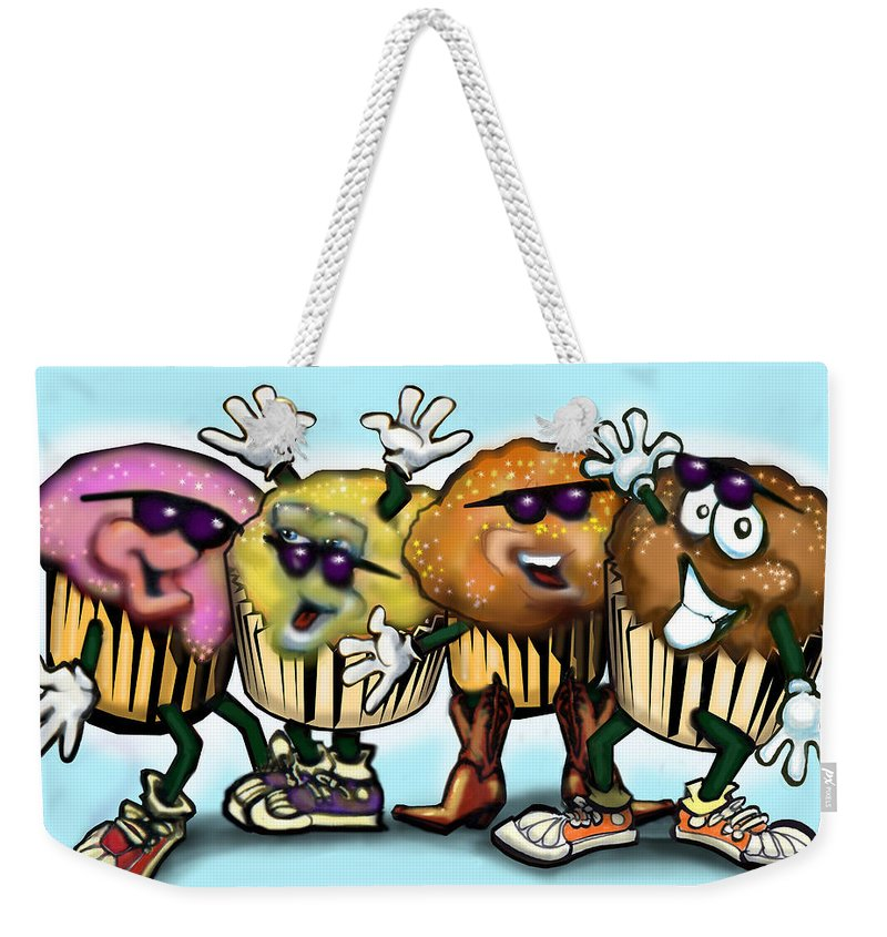 Cupcake Weekender Tote Bag featuring the digital art Cupcake Dance by Kevin Middleton