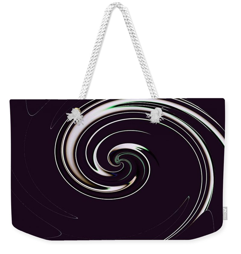 Abstract Weekender Tote Bag featuring the photograph Curl Up by Tim Allen
