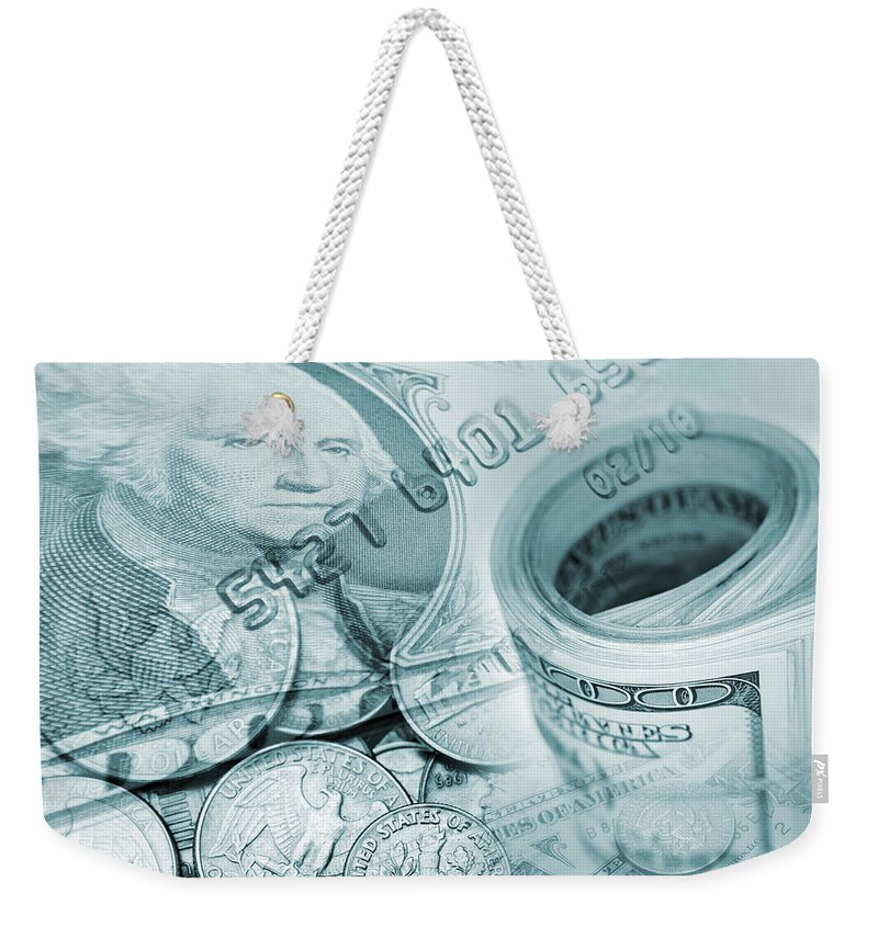 Business Weekender Tote Bag featuring the photograph Currency by Les Cunliffe