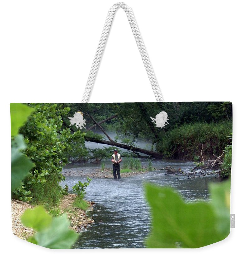 Current River Weekender Tote Bag featuring the photograph Current River 5 by Marty Koch