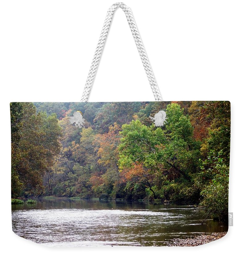 Current River Weekender Tote Bag featuring the photograph Current River Fall by Marty Koch